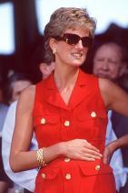 Принцеса Даяна с златна гривна и обеци на Tiffany & Co., 1994