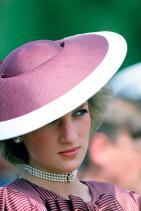 Принцеса Даяна с перлен чоукър, 1985 г.