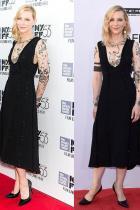 Кейт Бланшет по време на филмовия фестивал в Ню Йорк през 2015-та; през 2018-та по време на наградите на Американския филмов институт.