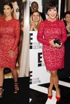 Ким през 2012-та на парти и година по-късно майка й Крис на събитие на Е!.