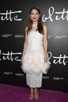 Кийра Найтли в Chanel Haute Couture по време на премиерата на Colette
