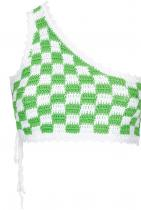 Frankies Bikinis Ingrid Check-pattern Crochet Bikini Top 275лв
