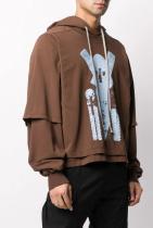RICK OWENS DRKSHDW, graphic print layered style hoodie за 931лв