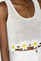 STAUD Cropped Crochet Tank Top 548лв