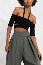 AMBUSH Off Shoulder Knit Top Black No Color 1168лв