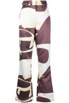House of Sunny High-rise Highway-print Flared Trousers 350лв