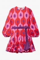 Rhode Ella Belted Floral-Print Cotton-Voile Mini Dress 698лв