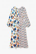 Jason Wu Pleated Printed Silk Crepe de Chine Midi Dress 1306лв