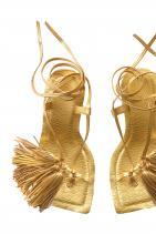 Златни сандали на ток 179лв