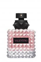 Valentino Born In Roma Donna Eau de Parfum 150 лв. Както наименованието само загатва, новият аромат на Valentino се обяснява в любов на Рим. Парфюмът е топъл и подканващ с обгръщащи нотки от жасмин, ванилия и черно грозде.